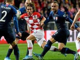 Modric não jogará contra Geórgia. AFP