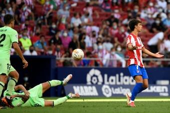 El Atlético espera un solo partido de sanción a Joao Félix. AFP