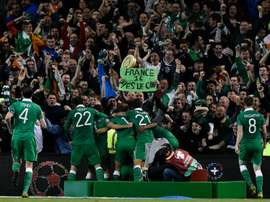 The FAI and the IFA are hoping to jointly host the UEFA U21 Championship in 2023. AFP
