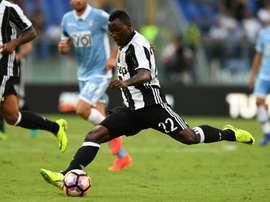 El ghanés podría seguir en el equipo italiano. AFP