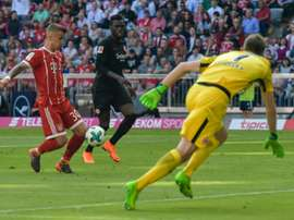 Dorsch scored his first senior goal for Bayern. AFP