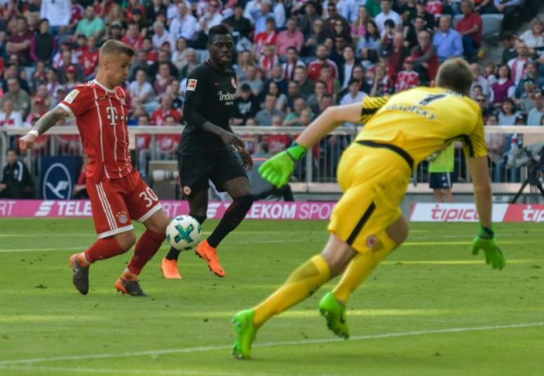 Dorsch scored his first senior goal for Bayern. AFP