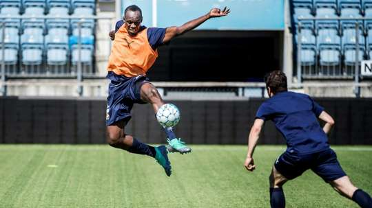 Bolt is determined to turn pro. AFP