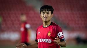Takefusa Kubo was on loan at Mallorca last season. AFP
