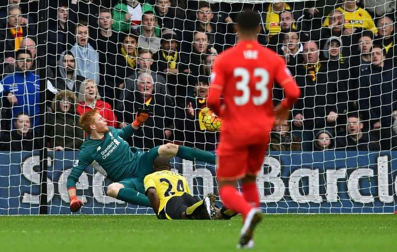Adam Bogdan lleva tres años sin jugar con el Liverpool. AFP/Archivo