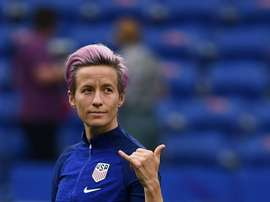 Megan Rapinoe has defended her comments on Donald Trump. AFP