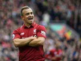 Xherdan Shaqiri has enjoyed a fine start to the season with Liverpool. AFP
