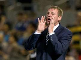 Stuart Pearce, pictured on June 5, 2013, came on as a substitute for Longford AFC