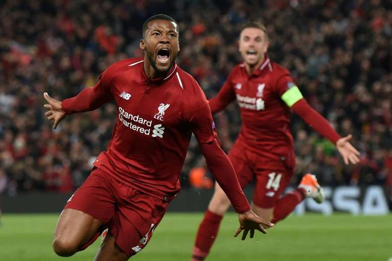 Wijnaldum has played a key role in taking Liverpool to the Champions League final. AFP
