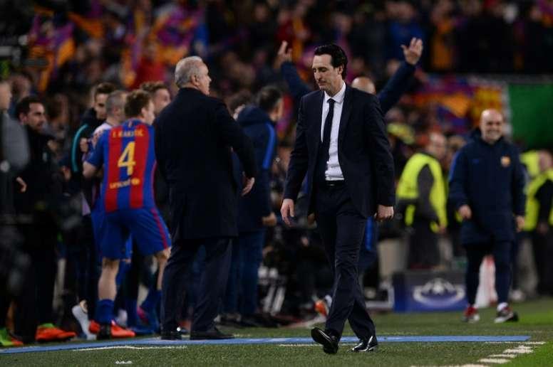Relacionan a Emery con el Barcelona. AFP