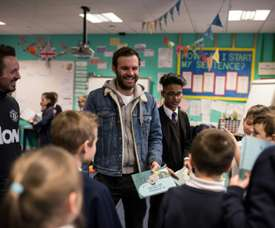 Juan Mata created a charity in order to help disadvantaged people all over the world. AFP
