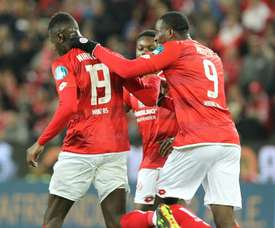 Niakhate and Mateta both scored as Mainz came from behind to draw against Leipzing. AFP