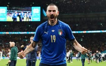 Leonardo Bonucci revealed how England fans motivated his Italy team. AFP