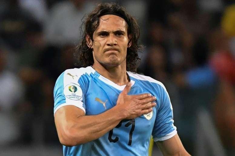 Cavani says Herrera helped convince him to join Man Utd. AFP