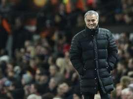 Mourinho aprova um treinamento o 25 de dezembro à tarde. AFP