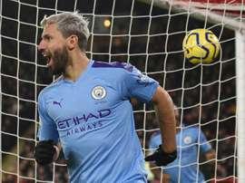 Agüero soma 13 títulos com o Manchester City. AFP
