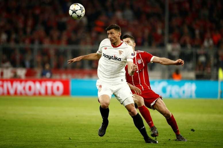 Lenglet has been linked with a move to the Camp Nou. AFP
