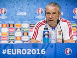 Hungary head coach Bernd Storck attends a press conference in France, on June 21, 2016. BeSoccer