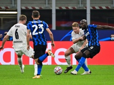 Belgian forward Romelu Lukaku (R) scored the opener for Inter Milan. AFP