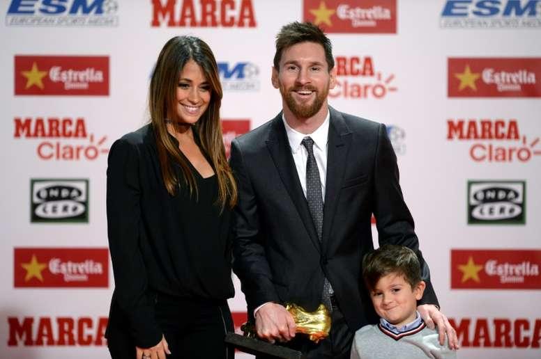 Messi, un tipo familiar. AFP