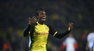 Batshuayi fue decisivo para la victoria del Borussia. AFP
