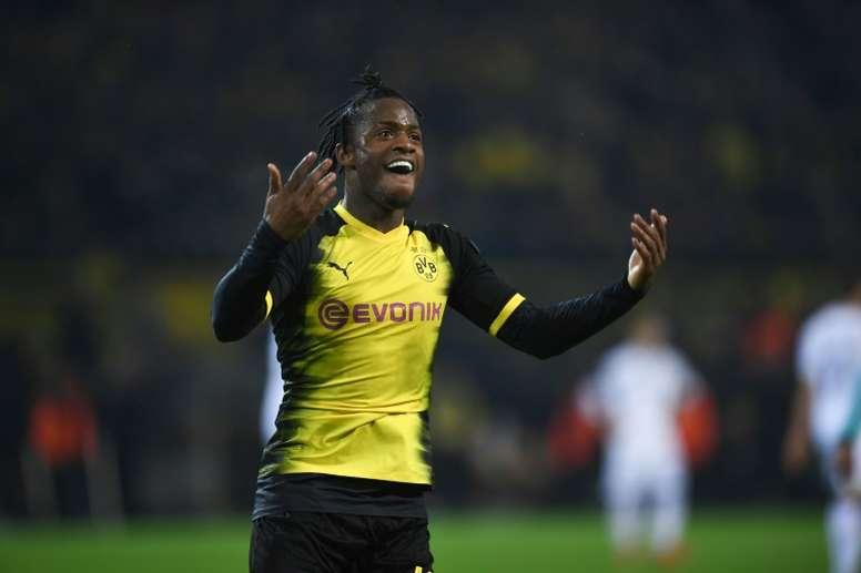 Batshuayi scored twice as Dortmund beat Atalanta. AFP