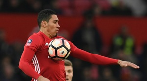Smalling's goal was the difference agaisnt Watford. AFP