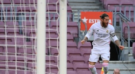 Sergio Ramos helped Real Madrid beat Barcelona 1-3 in El Clasico. AFP