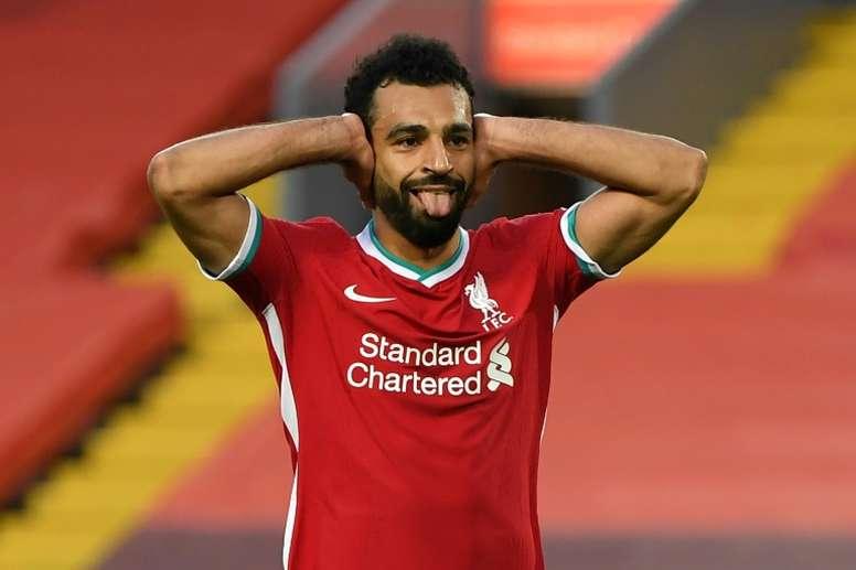 Salah démarre avec un triplé. AFP