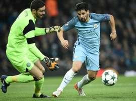L'attaquant espagnol devrait quitter Manchester City pour Séville. AFP