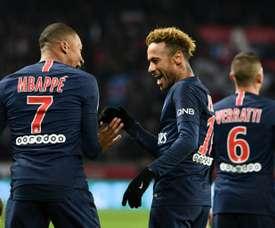 Mbappé et Neymar font toujours les beaux jours du PSG. AFP