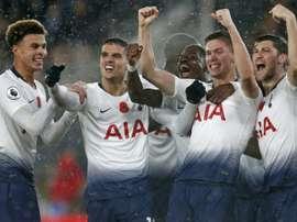 Foyth promete seguir trabajando para dar lo mejor al Tottenham. AFP