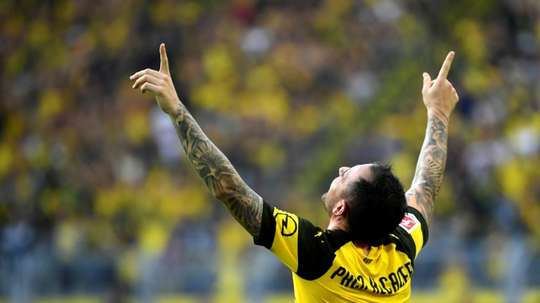 Alcacer is in fine form. AFP