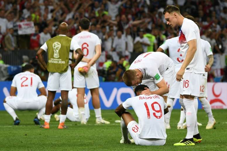 England's bitter disappointed players after their extra-time defeat to Croatia