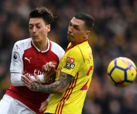 Watford are appealing Holebas' (r) red card. AFP
