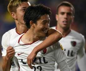 Nishi hizo un tanto y Serginho clasificó a Kashima. AFP