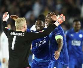 Leicester segue em frente, Sevilha eliminado. AFP
