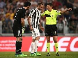 Chiellini não vai defrontar o Inter. AFP