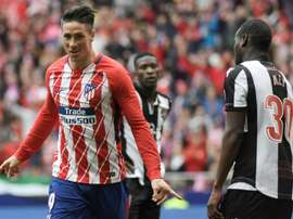 Torres scored Atletico's third goal of the match. AFP