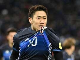 Kagawa, uno de los líderes nipones. AFP