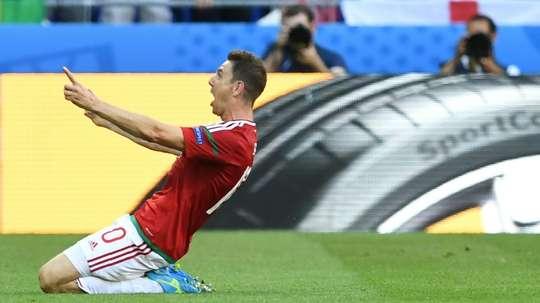 Gera after scoring. AFP