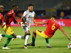 Man City's Riyad Mahrez got himself on the score sheet. AFP