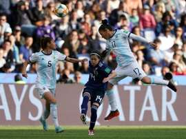 Japan midfielder Yui Hasegawa came closest to breaking the deadlock in the 0-0 draw. AFP