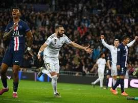 Benzema è riuscito a segnare al PSG. AFP
