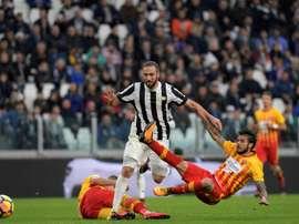 Un año efímero del Benevento. AFP