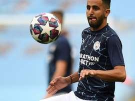 Manchester City's Riyad Mahrez was linked to PSG. AFP