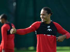Van Dijk is in the running for The Best Player award. AFP