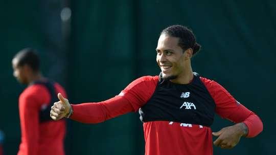 Van Dijk is in the running for The Best Player award. AFP