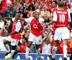 El Arsenal de Henry no perdió en la 2003-04. AFP