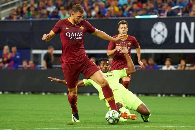 El bosnio vive su cuarta temporada en la capital italiana. AFP